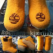 """Обувь ручной работы. Ярмарка Мастеров - ручная работа """"Бренд"""" Валенки детские уличные. Handmade."""