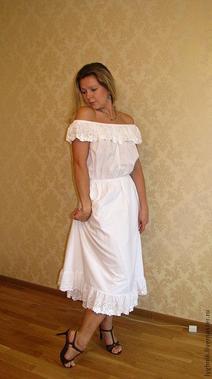 Белые платья из батиста