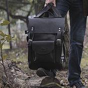 handmade. Livemaster - original item Leather backpack dark