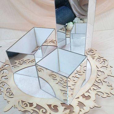 Цветы и флористика ручной работы. Ярмарка Мастеров - ручная работа Кашпо зеркальное. Handmade.