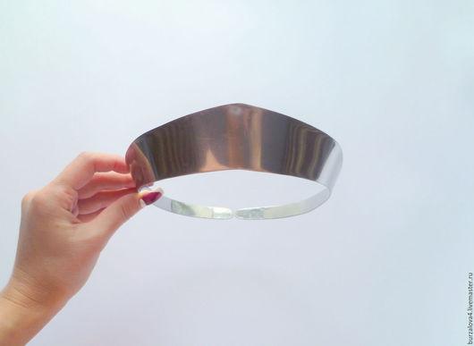 Вышивка ручной работы. Ярмарка Мастеров - ручная работа. Купить Основа для изготовления кокошника, 4 см. Handmade. Серебряный