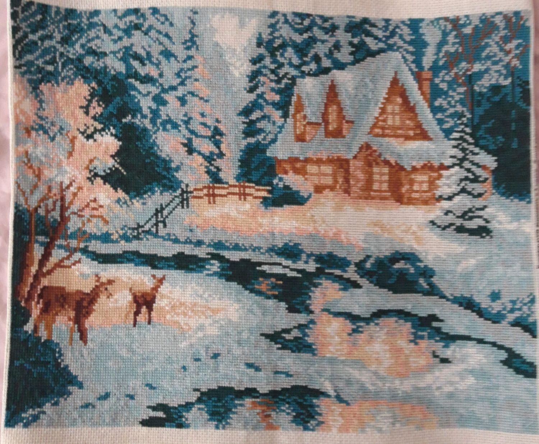 Зима Картина вышитая крестиком, Картины, Москва,  Фото №1