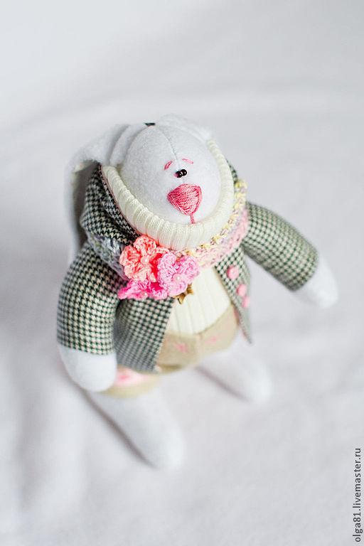 Куклы Тильды ручной работы. Ярмарка Мастеров - ручная работа. Купить Модный Крольчик. Handmade. Розовый, игрушка в подарок, кашемир