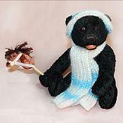 Куклы и игрушки ручной работы. Ярмарка Мастеров - ручная работа Зимний мишка Уголёк. Handmade.