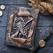 Канцелярские товары handmade. Livemaster - original item A notebook with a Scorpion. Handmade.