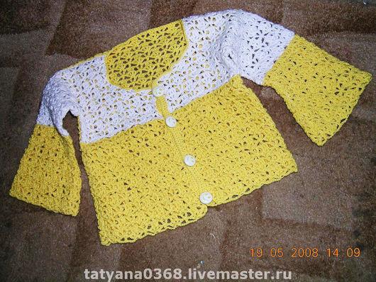 Одежда для девочек, ручной работы. Ярмарка Мастеров - ручная работа. Купить АЖУРНАЯ КОФТОЧКА. Handmade.
