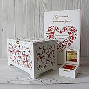 Свадебный салон handmade. Livemaster - original item Set: treasury, ring box, certificate folder. Handmade.