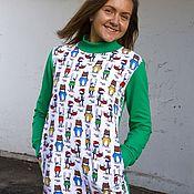 Одежда ручной работы. Ярмарка Мастеров - ручная работа Платье-свитшот Зверополис. Handmade.