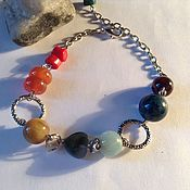 "Bead bracelet handmade. Livemaster - original item Браслет из натурального камня "" 7 чакр"".7.. Handmade."