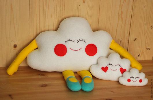 Текстиль, ковры ручной работы. Ярмарка Мастеров - ручная работа. Купить Облака. Handmade. Комбинированный, облако, подушка декоративная