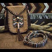 Сумки и аксессуары handmade. Livemaster - original item Boho leather bag, red color, Indian style. Handmade.