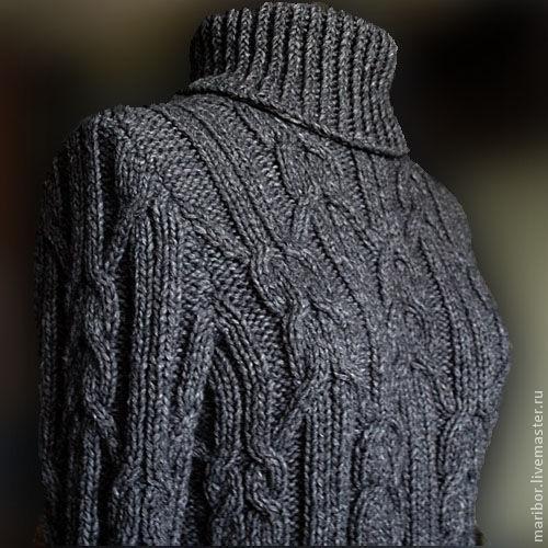 Кофты и свитера ручной работы. Ярмарка Мастеров - ручная работа. Купить Тёплый свитер с косами.. Handmade. Свитер, вязаный свитер