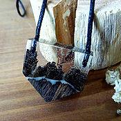 """Украшения ручной работы. Ярмарка Мастеров - ручная работа Деревянный кулон """"Снежные горы"""", кулон из дерева. Handmade."""