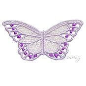 Материалы для творчества handmade. Livemaster - original item Embroidery applique butterfly color lace openwork FSL free. Handmade.