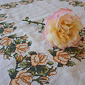 Для дома и интерьера handmade. Livemaster - original item Tablecloth Yellow roses. Handmade.