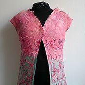 """Одежда ручной работы. Ярмарка Мастеров - ручная работа жилет """"Coral summer"""", нунофелтинг. Handmade."""