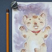 Картины и панно ручной работы. Ярмарка Мастеров - ручная работа Манящая кошка. Handmade.