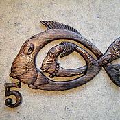 Свадебный салон ручной работы. Ярмарка Мастеров - ручная работа Рыбы  ( на деревянную свадьбу). Handmade.