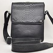 Сумки и аксессуары handmade. Livemaster - original item Men`s shoulder bag made of Python skin and genuine leather.. Handmade.