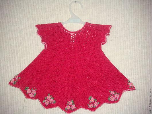 Одежда для девочек, ручной работы. Ярмарка Мастеров - ручная работа. Купить нарядное платье. Handmade. Платье для девочки, вязаное платье