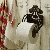 Для дома и интерьера ручной работы. Ярмарка Мастеров - ручная работа держатель для туалетной бумаги Резной. Handmade.