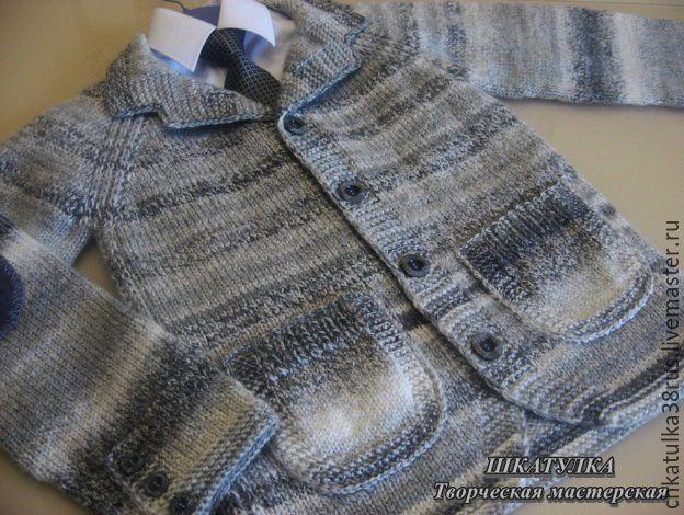 """Вязаный пиджак для мальчика """"Тедди"""", Одежда для мальчиков, Иркутск, Фото №1"""