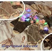 Работы для детей, ручной работы. Ярмарка Мастеров - ручная работа Носки шерстяные. Handmade.
