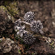 """Украшения ручной работы. Ярмарка Мастеров - ручная работа """"Цветение"""" серебряное кольцо. Handmade."""