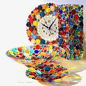 Для дома и интерьера handmade. Livemaster - original item Kitchen sets: glass fusing, Color rain set. Handmade.