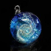 Украшения handmade. Livemaster - original item Pendant ball Sea of space. Galaxy Nebula. Blue Planet. Universe. Handmade.