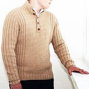 Одежда handmade. Livemaster - original item Sweater knitted of Alpaca - handmade, large size. Handmade.