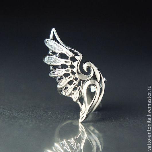 Кольца ручной работы. Ярмарка Мастеров - ручная работа. Купить Взмах Крыла - кольцо из серебра в виде птицы. Handmade. Крыло