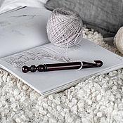Материалы для творчества handmade. Livemaster - original item 14mm Cedar Wood Knitting Hook. K287. Handmade.