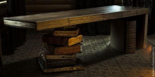 Мебель ручной работы. Ярмарка Мастеров - ручная работа. Купить Книжный стол 2. Handmade. Коричневый, авиационная фанера, сосна