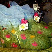 """Обувь ручной работы. Ярмарка Мастеров - ручная работа тапочки """"Клеверный луг"""". Handmade."""