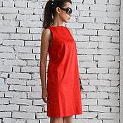 Одежда handmade. Livemaster - original item Red Short Summer Dress. Handmade.