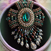 """Украшения ручной работы. Ярмарка Мастеров - ручная работа Брошь """"Emerald Queen"""". Handmade."""