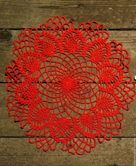 Текстиль, ковры ручной работы. Ярмарка Мастеров - ручная работа. Купить Салфетка ручной работы крючком. Handmade. Рыжий