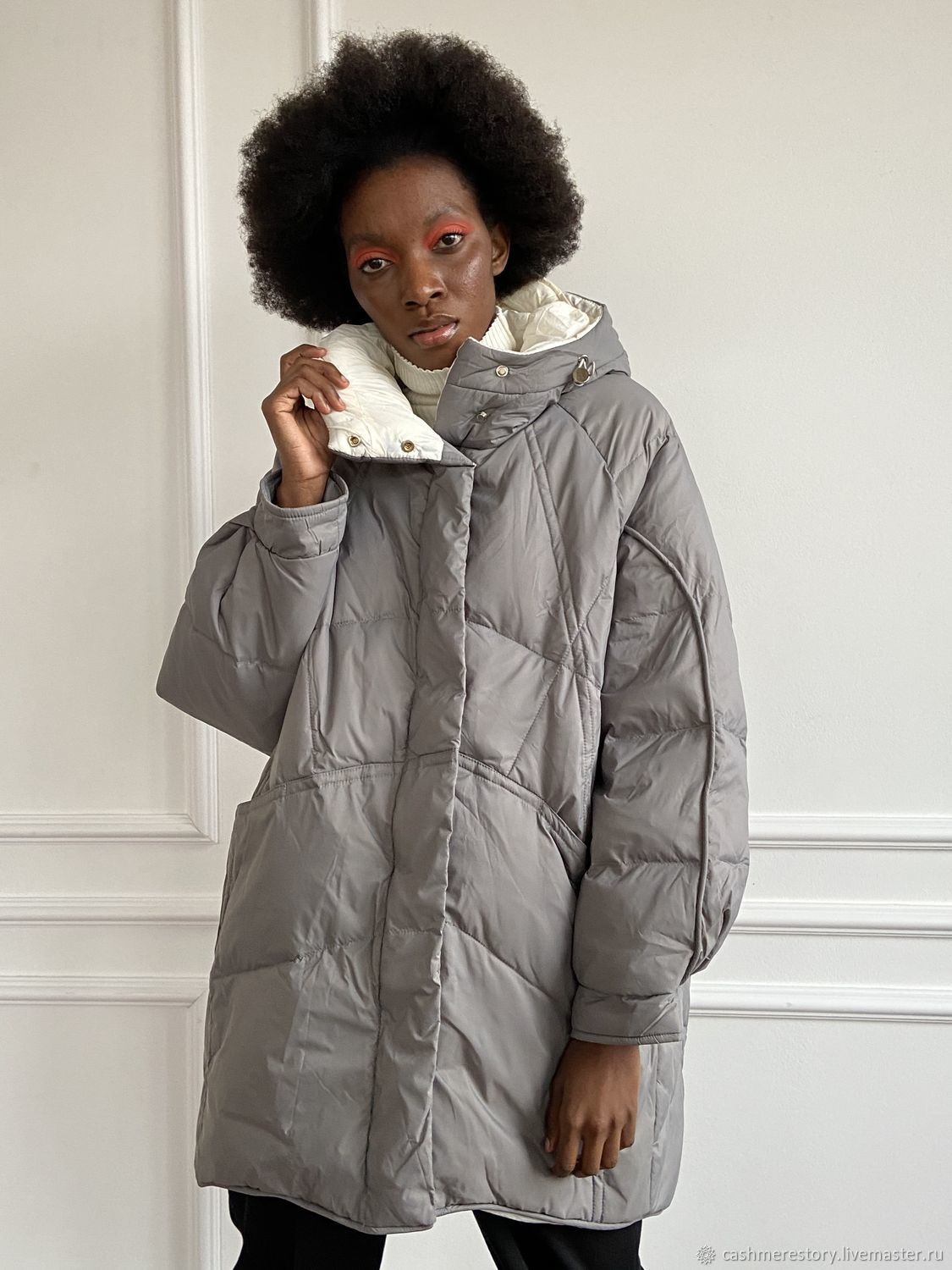 Elongated down jacket with a hood, Outerwear Jackets, Moscow,  Фото №1
