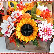 """Мыло ручной работы. Ярмарка Мастеров - ручная работа Мыло ручной работы,мыло цветы,подарок""""Букет подсолнухов"""". Handmade."""