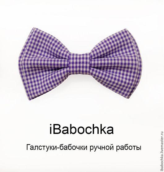 Галстук бабочка iLilac (сиреневая) от iBabochka, Ручная работа