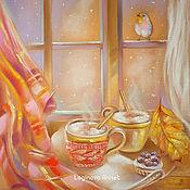 Картины и панно ручной работы. Ярмарка Мастеров - ручная работа Кофе для двоих. Handmade.
