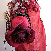 """Сумки и аксессуары ручной работы. Ярмарка Мастеров - ручная работа валяная сумка """"Роза"""". Handmade."""