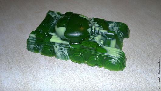 Мыло ручной работы. Ярмарка Мастеров - ручная работа. Купить Мыло танк. Handmade. Тёмно-зелёный, мыло сувенирное, подарок