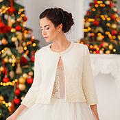 Свадебный салон handmade. Livemaster - original item Wedding coat, Bridal jacket, Bridal coat, Wedding jacket, Zlata Cream. Handmade.