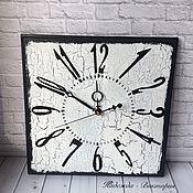 """Часы классические ручной работы. Ярмарка Мастеров - ручная работа Часы настенные 30см """"Монохром"""". Handmade."""