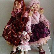 """Куклы и игрушки ручной работы. Ярмарка Мастеров - ручная работа """"Девочки, не ссорьтесь!"""" куклы в винтажном стиле. Handmade."""