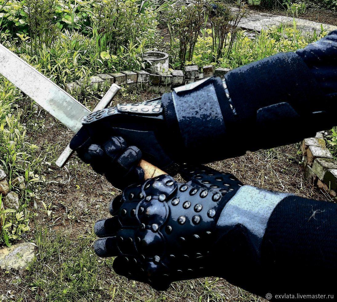 """""""РЫЦАРЬ -2"""" перчатки для доспеха кожаные, Доспех, Москва,  Фото №1"""