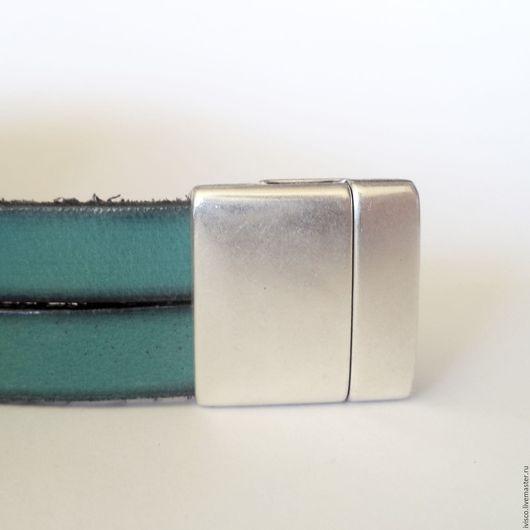 Для украшений ручной работы. Ярмарка Мастеров - ручная работа. Купить Магнитный замок гладкий для плоского шнура 20 мм. Handmade.