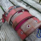 Аксессуары handmade. Livemaster - original item The leather and suede